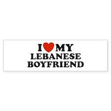 I Love My Lebanese Boyfriend Bumper Bumper Sticker