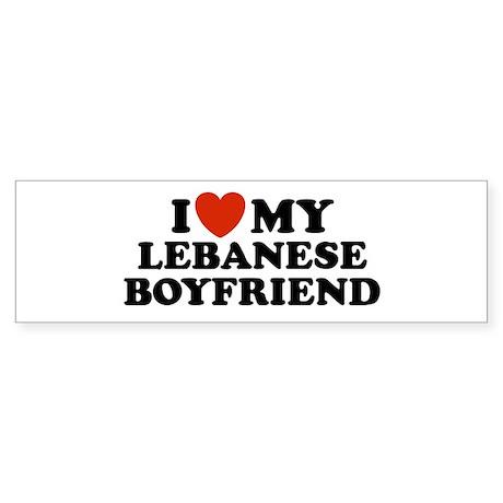 I Love My Lebanese Boyfriend Bumper Sticker