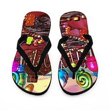 Candyland Flip Flops