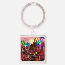 Candyland Square Keychain