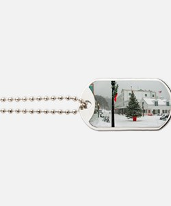 MackinacChristmasPoster3 Dog Tags