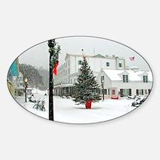 MackinacChristmasPoster3 Sticker (Oval)