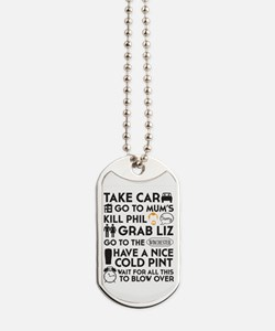 SHAUN OF THE DEAD THE PLAN BLACK 3 Dog Tags