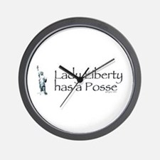Lady Liberty Has A Posse Wall Clock