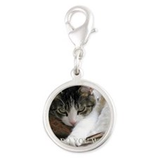 Copy of I0072 Silver Round Charm