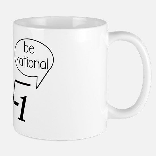 Get Real, Be Rational Math Humor Mug