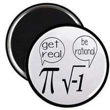 Get Real, Be Rational Math Humor Magnet