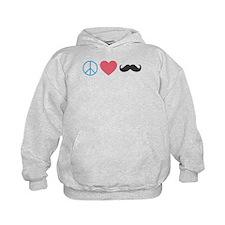 Peace Love Mustache Hoodie
