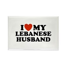 I Love My Lebanese Husband Rectangle Magnet
