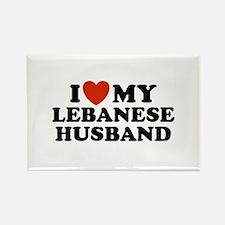 I Love My Lebanese Husband Rectangle Magnet