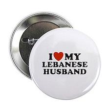 I Love My Lebanese Husband Button