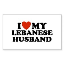 I Love My Lebanese Husband Rectangle Decal