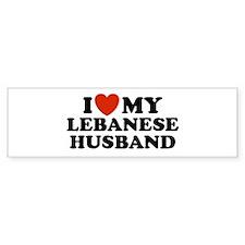 I Love My Lebanese Husband Bumper Bumper Sticker