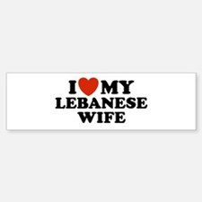 I Love My Lebanese Wife Bumper Bumper Bumper Sticker