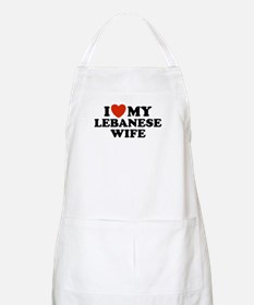 I Love My Lebanese Wife BBQ Apron
