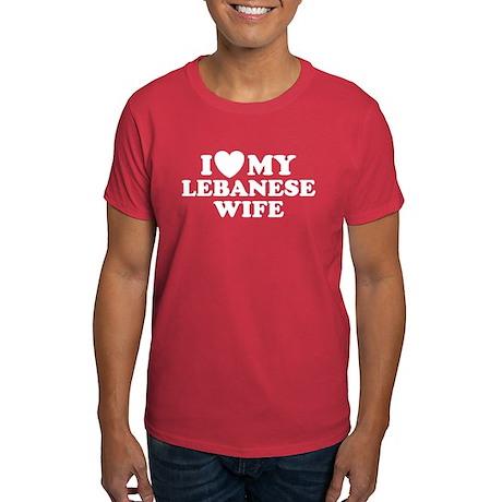 I Love My Lebanese Wife Dark T-Shirt
