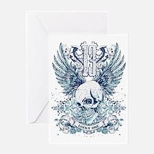 Lucky 13 skull Greeting Card