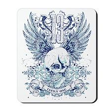 Lucky 13 skull Mousepad
