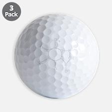 Caffeine Chemistry funny t-shirt design Golf Ball
