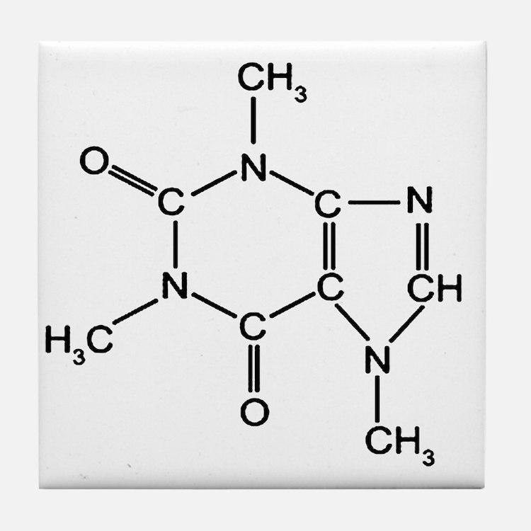 Caffeine Chemistry funny t-shirt desi Tile Coaster