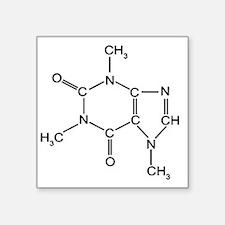 "Caffeine Chemistry funny t- Square Sticker 3"" x 3"""