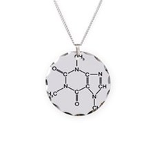 Caffeine Chemistry funny t-s Necklace