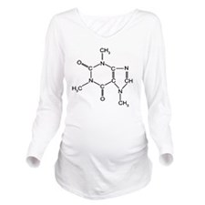 Caffeine Chemistry f Long Sleeve Maternity T-Shirt