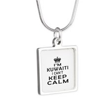 I Am Kuwaiti I Can Not Keep Calm Silver Square Nec