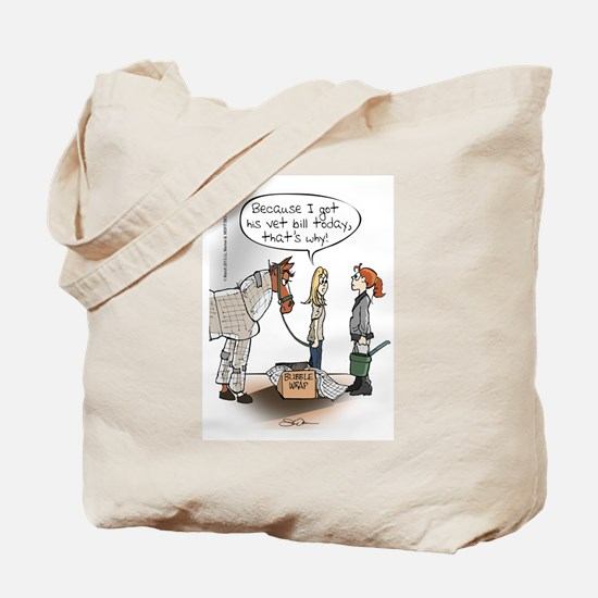 Horse Health Bubble Wrap Tote Bag
