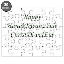 HanukKwanzYule ChristDiwalEid Puzzle