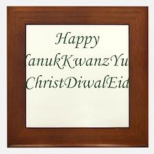 HanukKwanzYule ChristDiwalEid Framed Tile