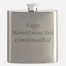 HanukKwanzYule ChristDiwalEid Flask