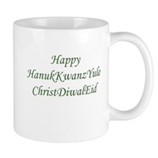 HanukKwanzYule ChristDiwalEid Mugs
