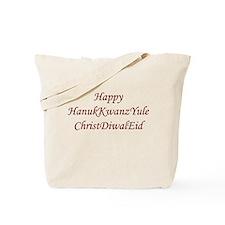 HanukKwanzYule ChristDiwalEid Tote Bag