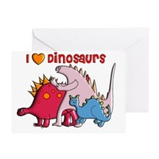 I love Dinosaurs 3 Gails Greeting Card