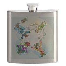 Snow Angels Ornament Flask