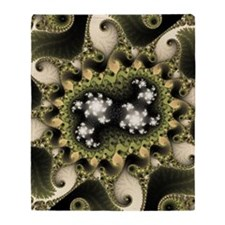 ipad_case fractal evj greeny Throw Blanket