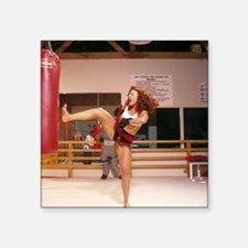 "The Karate Angels Calendar  Square Sticker 3"" x 3"""