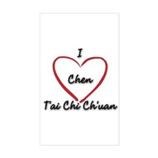 Tai Chi Sticker Rectangular