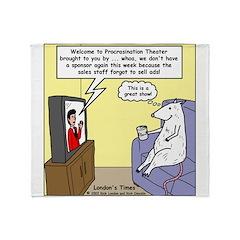 Procrastination Theater Throw Blanket