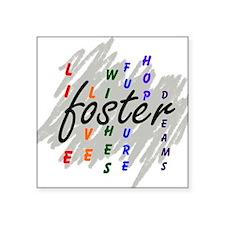 """foster... Square Sticker 3"""" x 3"""""""