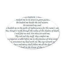 psalm23 Oval Car Magnet