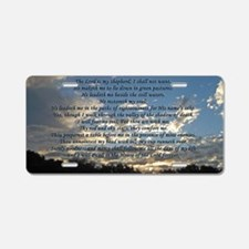 psalm23print14x6 Aluminum License Plate
