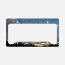 psalm23print14x6 License Plate Holder