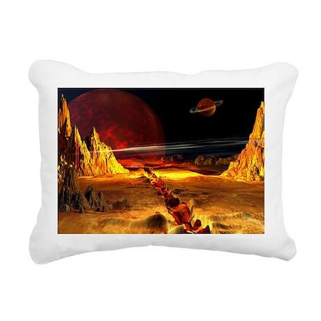 Bloody Planet Rectangular Canvas Pillow