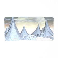 Ice peak landscape Aluminum License Plate
