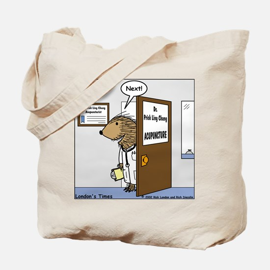 Porcupine Acupuncture Tote Bag