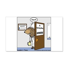 Porcupine Acupuncture Wall Decal