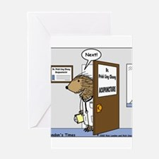 Porcupine Acupuncture Greeting Card
