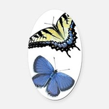 Butterfly iPhone 4 Clear Case Oval Car Magnet